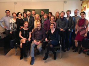 Жан Беккио и участники семинара в Санкт-Петербурге